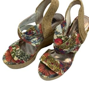 Mix No. 6 Chanel Mix Floral Wedges 10M